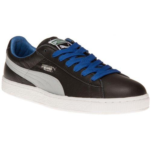 Puma - Zapatillas de skateboarding de cuero para hombre negro negro