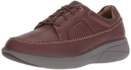 - CLARKS Men's Un Rise Lace Sneaker, Mahogany Tumbled Leather, 105 M US