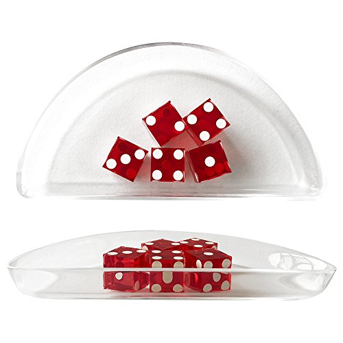 YH Poker Acrylic Craps Dice Boat for Craps Game by YH Poker