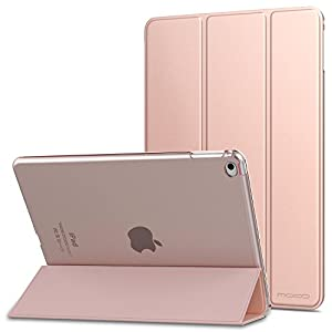 "MoKo iPad Air 2 Case - Slim Lightweight Smart-shell Stand Cover with Translucent Frosted Back Protector for Apple iPad Air 2 9.7"" Tablet, Rose GOLD (with Auto Wake/Sleep, Not fit iPad Air)"