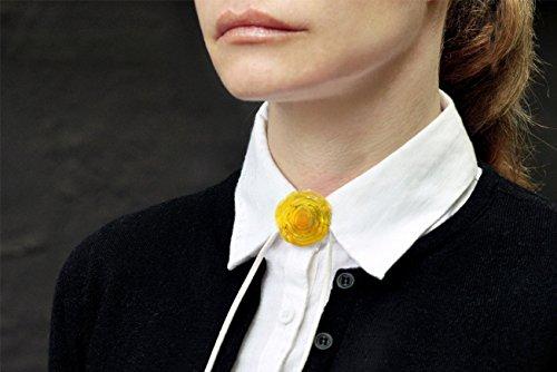 Yellow Pendant - Flower Pendant - Yellow Necklace - Venetian - Lampwork Pendant - Handmade Pendant - Urban Flowers Collection (Necklace Venetian Yellow)