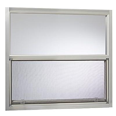Park Ridge AMHMF3027PR Aluminum Mobile Home Single Hung Window 30 Inch x 27 Inch, Mill Finish Silver