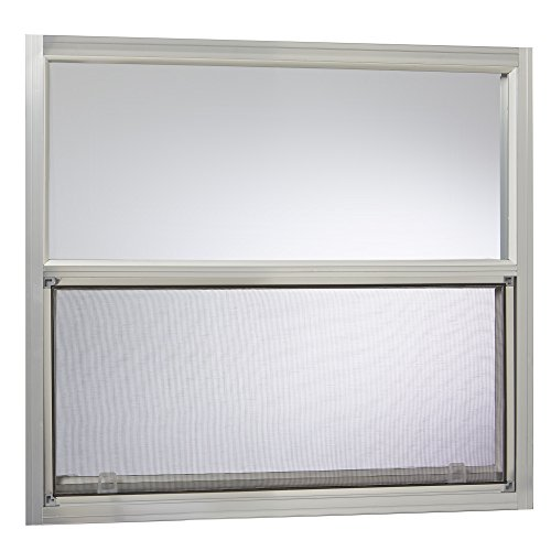 (Park Ridge Products AMHMF3027PR Park Ridge Mill Finish 30 in. x 27 in. Aluminum Mobile Home Single Hung Window - Silver,)