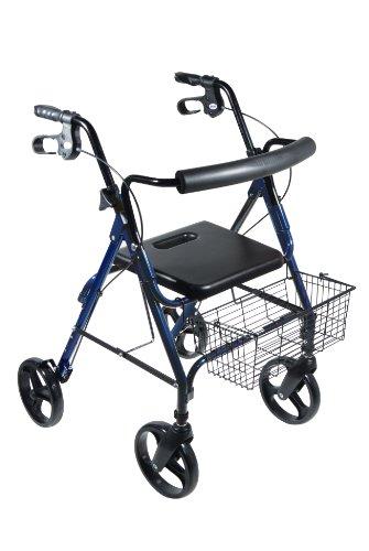 Drive Medical D-Lite Rollator, Blue -