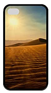 iPhone 4 4s Case, iPhone 4 4s Cases Nature Death Valley Custom Design TPU Soft Case Cover Protector for iPhone 4 4s Black