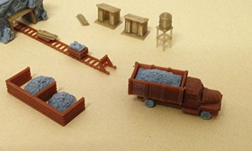 Outland Models Train Railway Ore Mining Accessories: Cart Truck Shanty. N Scale