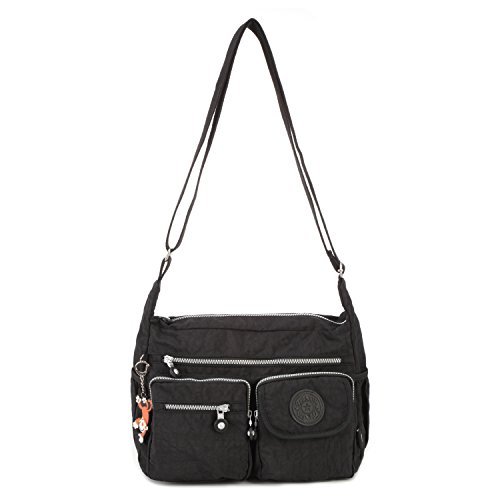 Pack Body Women Bag Travel for Fashion Casual Bag Bag Bookbag Cross Foino Side Shoulder Tablet Sport Messenger Bag Black Crossbody Owx1fcqE