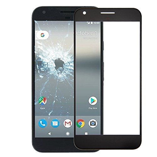 (#104) Front Screen Outer Glass Lens for Google Pixel XL (Black)