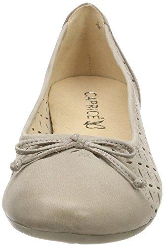 Caprice Damer 22128 Lukkede Ballerinaer Grå (grå Nubuc 204) 11rJoJ1sle
