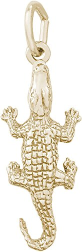 Rembrandt Alligator Charm - Metal - 14K Yellow