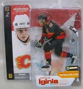 McFarlane Toys NHL Sports Picks Series 4 Action Figure: Jarome Iginla (Calgary Flames) Black Jersey VARIANT