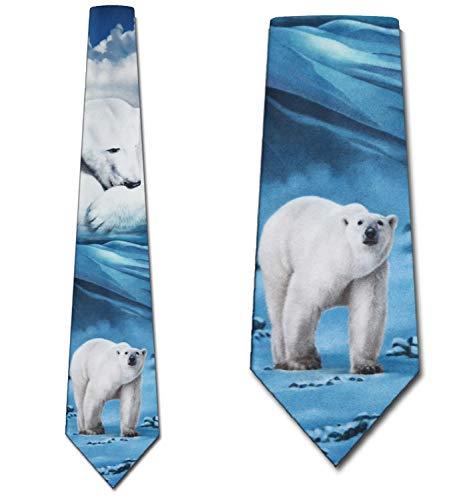 - Polar Bear Ties Mens Necktie Tie by Ralph Marlin