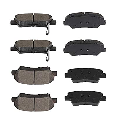 SCITOO 8pcs Front Rear Ceramic Brake Pads fit for 2011-2016 Hyundai Elantra,2013 Hyundai Elantra Coupe,2013-2020 Hyundai Elantra GT: Automotive