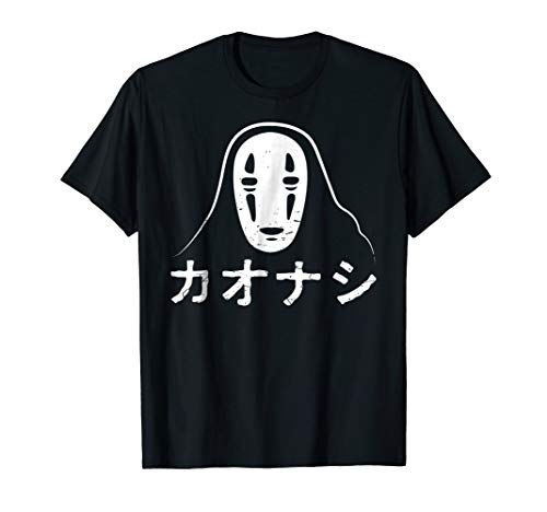 No Face Kaonashi Spirited logo Halloween Casual T-shirt -