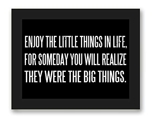 Enjoy Little Things Inspirational Quote product image
