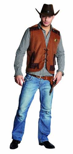 neue hohe Qualität heiße Angebote baby Rubie's Wilder Westen Herren Kostüm Cowboy Weste Sheriffweste Karneval Gr.48
