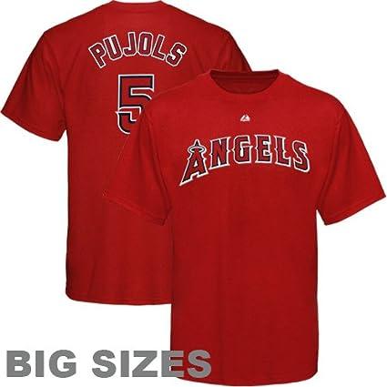 e4b6914f2ee Amazon.com   Majestic MLB Los Angeles Angels of Anaheim  5 Albert ...