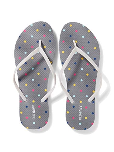 - Old Navy Women Beach Summer Casual Flip Flop Sandals (10, Dots/Multicolor)