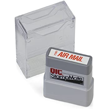 Amazon Com Air Mail Self Inking Rubber Stamp Red Ink Business Stamps Office Products
