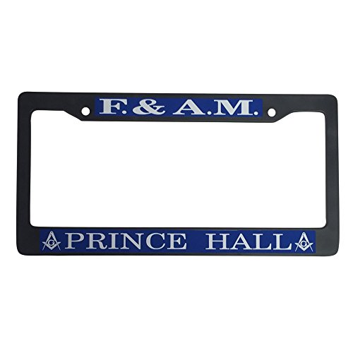 Mason Metal or Plastic License Plate Frame For Front Back of Car (Plastic - Mason F&AM/Prince)