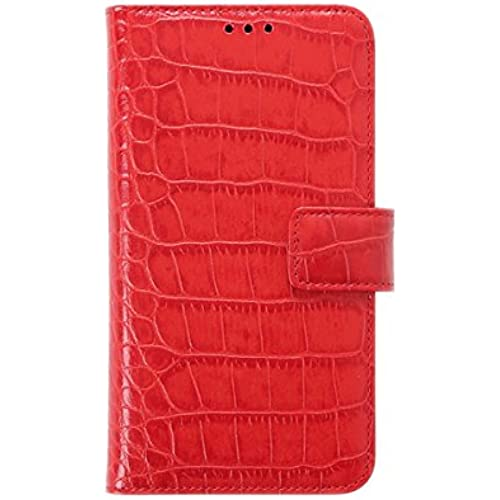 Samsung Galaxy S7 Case Genuine Leather Wallet Case Naborsa Case (Croco Red) Sales