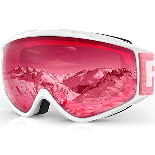 - findway Ski Goggles, Snow Snowboard Snowboarding Sports Goggles Glasses - for Women Men Ladies Youth Teen OTG Over Helmet Compatible - Anti-Fog 100% UV Protection, Anti-Glare Ski Goggles