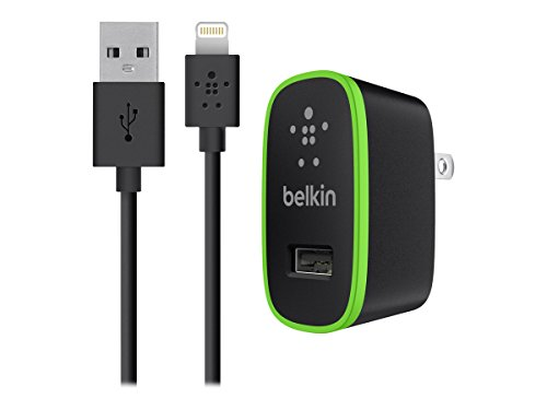Belkin Apple Certified MIXIT Home Charger with 4-Foot Lightning Cable (2.1 Amp / 10 Watt), Black