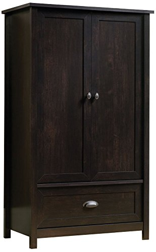 Great Sauder County Line Armoire In Estate Black