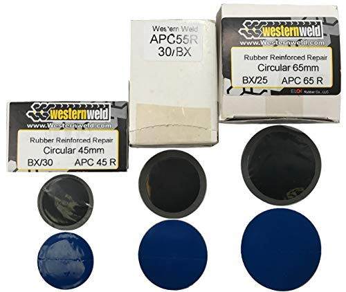 Sherco-Auto 85 Piece Western Weld All Purpose Round Reinforced Tire Patch Assortment - 1-3/4