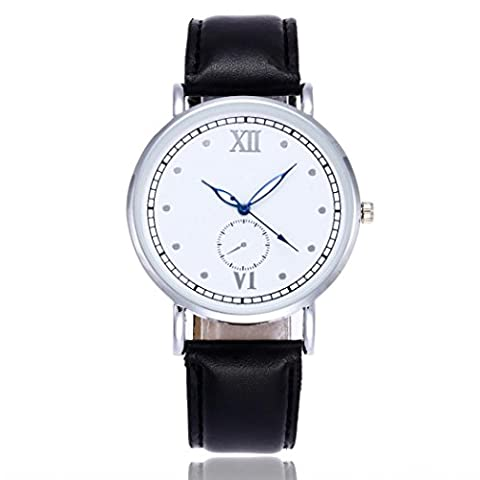 Watches, Forthery Luxury Fashion Dial Leather Quartz Analog Wrist Watch (Geneva See Through Watch)
