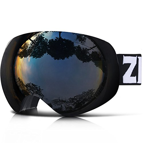 41Vzi12H5yL - ZIONOR X10 Ski Snowboard Snow Goggles OTG for Men Women Youth Anti-fog UV Protection Helmet Compatible