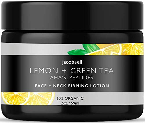 Face & Neck Firming Cream - Top Influencer - Organic & Vegan - Helps With Anti-Wrinkle & Firming Skin Packed with Plant Stem Cells, Castor Oil, Vitamin E, AHAs, Peptides, Lemon Extract & More ()