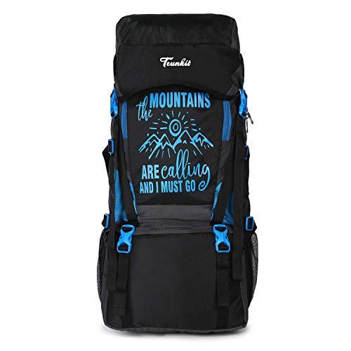 Trunkit Waterproof Travelling Trekking Hiking Camping Bag Backpack Series 55 litres Mt Calling Rucksack with Rain Cover