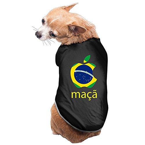 Nerdy Maçã Rio 2016 Pet Dog 100% Fleece Vest Apparel Black US Size S (Leonard Dog House)