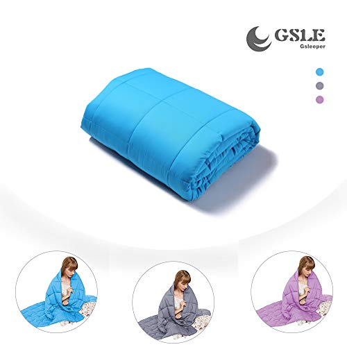Gsleeper Weighted Blanket (Sky Blue, 50