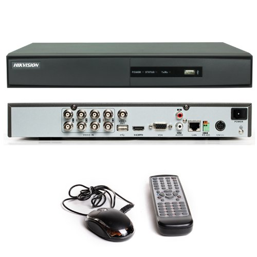 HIKVISION DS-7208HWI-SH 8 Channel CCTV DVR H 264 HDMI Digital Video  Recorder with 2000 GB Hard Drive
