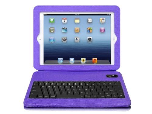 Aluratek Slim Color Folio Case with Bluetooth Keyboard for iPad 2/3 - Grape Jelly (ABTK02FV) by Aluratek