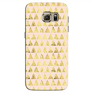 Cover It Up - Gold Pink Triangle Tile Galaxy s7 Edge Hard Case