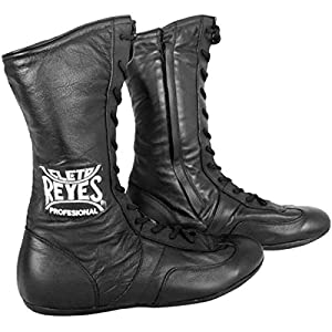 Cleto Reyes Leather Lace Up High Top Boxing Shoes - Black 4