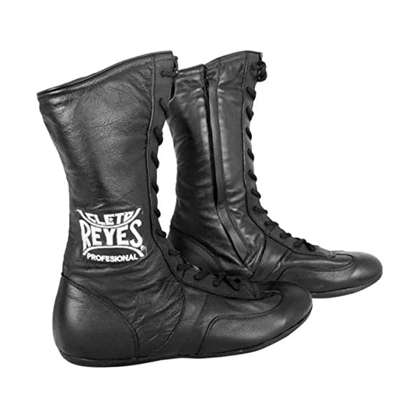 Cleto Reyes Leather Lace Up High Top Boxing Shoes - Black 1