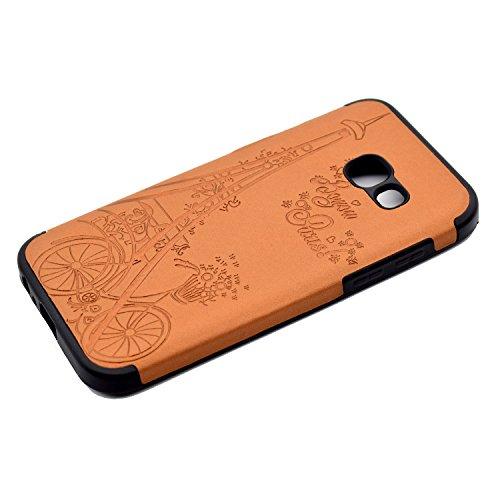 inShang Funda para Samsung Galaxy A3(2017) suave TPU Carcasa Cajas Soporte Skin case cover Para Galaxy A3(2017) Brown Tower