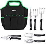 buy TomCare Garden Tools Set 7 Piece Gardening Tools Gardening kit Tool Sets with Heavy Duty Pruning Shears Comfortable Non-Slip Handle and Durable Storage Tote Bag - Garden Gifts for Gardeners Men Women now, new 2019-2018 bestseller, review and Photo, best price $24.99