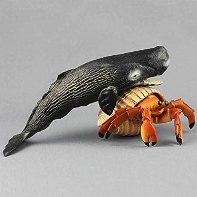 Toyvian 1pc Sea Animal Toys Simulation Ocean Animals Plastic Sperm Whale Figures Model Toys for Kids Children Infant: Toys & Games