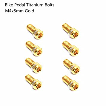 8pcs M4x8mm MTB Road Bike Pedal Bolt Anti-Slip Ti Screws For XC AM DH