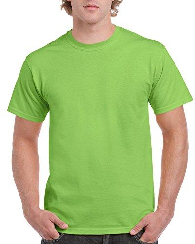Gildan Men's Ultra Cotton Tee, Lime, X-Large
