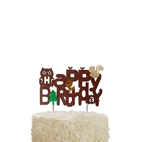 DK Woodland Creatures Inspired Cake Topper, Custom Name Cake Topper, Woodland Creatures Theme Cake Topper ,Woodland Creatures Baby Shower