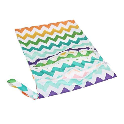 PIXNOR bebé infantil bolsa de pañales impermeable mojado seco bebé bolsa de pañales reutilizables