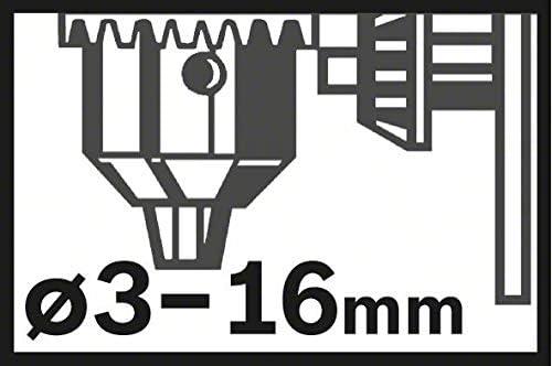 Bosch 1608571057 Mandrin /à cl/é jusqu/à 16 mm 3-16 mm 5//8-16