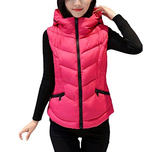 ブレース証書人Zhhlaixing ウォームコート Winter Down Vest Female Korean Version of the Clip Short Style Hood Slim Fashion