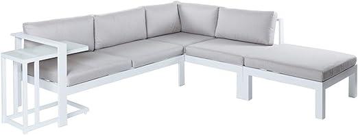 Conjunto de sofá de Exterior Blanco de Aluminio para jardín - LOLAhome: Amazon.es: Jardín